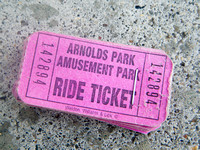 Fancy ride tickets