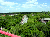 The view from theWildcat's lift hill