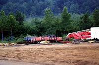 The Comet's original PTC trains were left neglected in a field behind the far turnaround